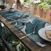 618年㊥大促 吾貨 ins植物水彩西餐墊布藝隔熱墊餐杯墊餐桌墊墊碗盤墊茶墊子