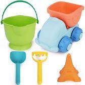 軟膠兒童沙灘玩具車大號鏟子桶套裝寶寶男孩女孩洗澡玩沙挖沙工具