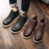 馬丁靴 男短靴 英倫潮低幫真皮高幫工裝鞋馬丁鞋男靴子《印象精品》q1321