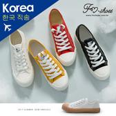 休閒鞋-工業風厚底帆布餅乾鞋(黃、黑)-大尺碼-FM時尚美鞋-韓國精選.young