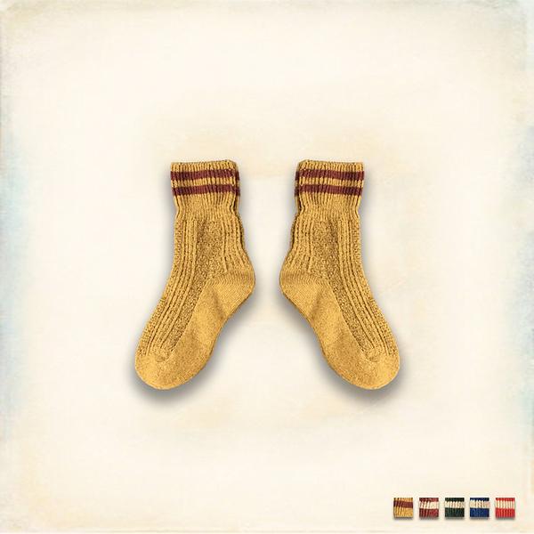 Melek 襪子類 (共5色)【A01161115-0201~0205】女襪暖兔羊毛兩槓 長襪/中筒襪/羊毛襪
