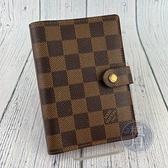 BRAND楓月 LOUIS VUITTON LV 路易威登 R20700 棋盤格六孔筆記本 卡夾 護照套 帆布塗層