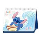 正版 2022年 迪士尼系列 線圈桌曆 平面桌曆 三角桌曆 行事曆 史迪奇款 COCOS A2022