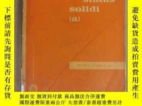 二手書博民逛書店physica罕見status solidi (a) volume 4 number 3 1971 (P2521)