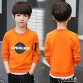 男童長袖T恤秋裝兒童裝男孩上衣春秋打底衫體恤韓版潮衣 東京衣秀