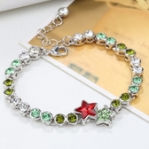 水晶手鍊 925純銀-絢麗星星生日聖誕節交換禮物女手環16色73ak103【時尚巴黎】