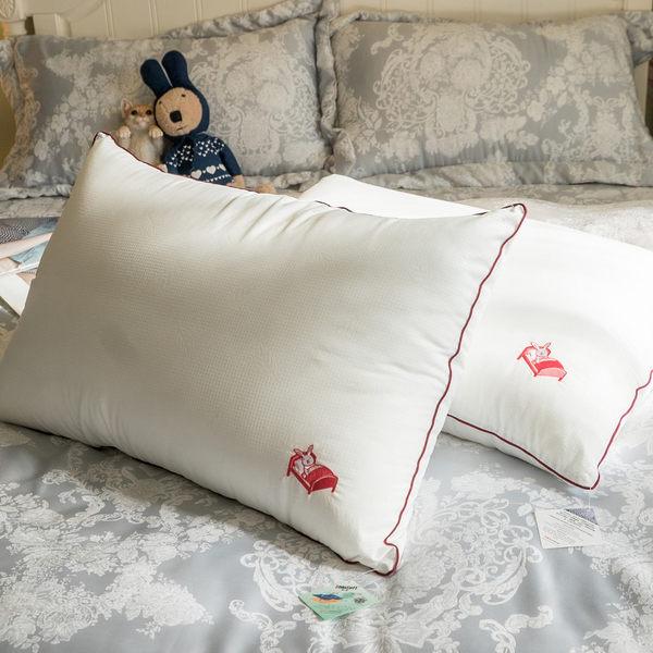 【兔兔棉枕頭】(1入) 電繡本舖LOGO 枕頭 台灣製 棉床本舖