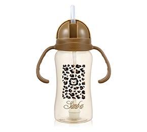 『121婦嬰用品館』小獅王辛巴 PPSU自動把手滑蓋杯(豹紋) 240ml
