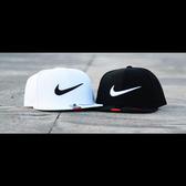 NIKE 棒球帽 Snapback 電繡 基本 大勾勾 可調 黑/白 639534- 【Speedkobe】