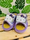 【震撼精品百貨】凱蒂貓_Hello Kitty~日本SANRIO三麗鷗 KITTY 室內按摩拖鞋-蝴蝶結/紫色(尺寸M~L)#41594