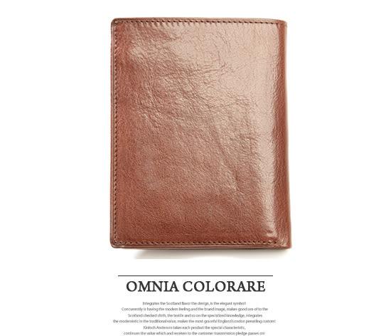 OMC - 原皮魅力真皮款左右翻10卡1照書夾型短夾