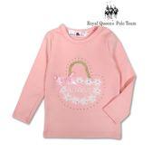 粉色貼鑽長袖棉T  蕾絲花籃圖案[15185] RQ POLO 小女童 秋冬童裝
