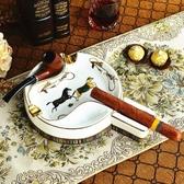 歐式復古愛馬陶瓷煙斗架子配件創意個性高檔時尚雪茄煙灰缸大號  露露日記