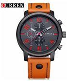 CURREN 卡瑞恩8192 男士防水石英手錶時尚皮革腕表