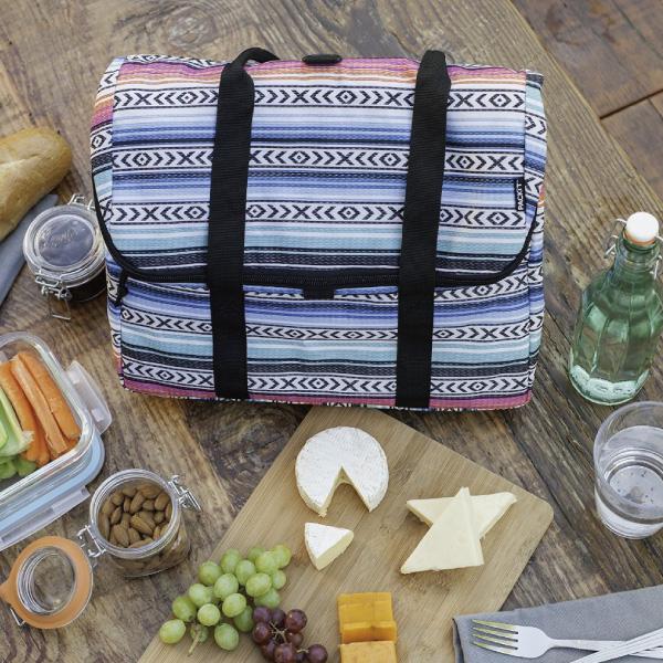 美國 PACKIT 野餐托特包/保冰袋/多功能冷藏袋/午餐袋/冰酷-民族風情