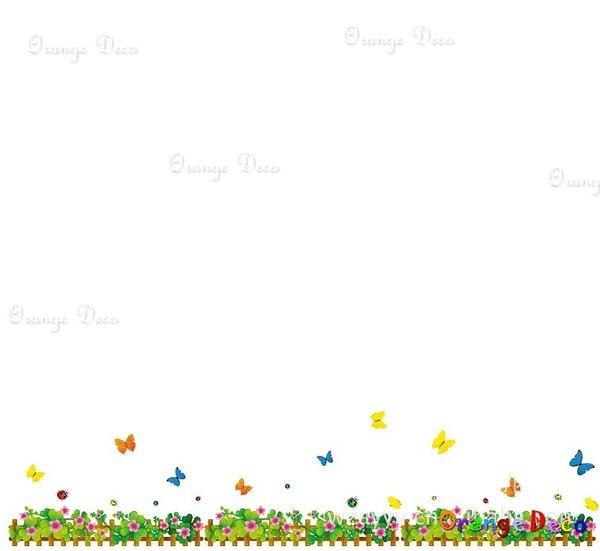 壁貼【橘果設計】可愛柵欄 DIY組合壁貼/牆貼/壁紙/客廳臥室浴室幼稚園室內設計裝潢