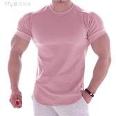 健身服肌肉隊長健身衣運動t恤新款緊身衣男士兄弟高彈訓練速幹休閒短袖 快速出貨