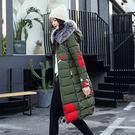 VK精品服飾 韓系羽絨服時尚印花雙面穿修身棉服單品外套
