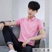短袖t恤帶領體桖修身polo衫
