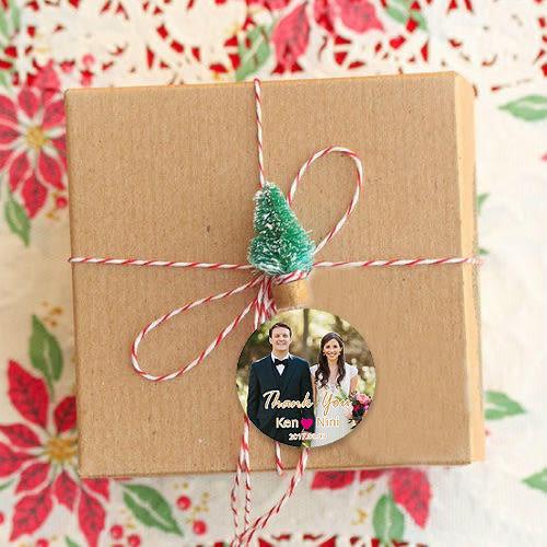 幸福婚禮小物❤圓形婚紗照款 貼紙500入❤貼紙/客製化