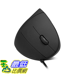 Anker AK-98ANWVM-BA 滑鼠 Ergonomic Optical USB Wired Vertical Mouse 1000/1600 DPI, 5 Buttons CE100