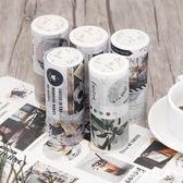 手賬膠帶貼紙~加長版和紙膠帶復古風文藝貼紙和風彩色手賬膠紙diy日記裝飾-薇格嚴選