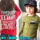 【韓版童裝】彈力韓國棉胸口假口袋拉鍊後英字棉T-兩色可選【BD16101201】