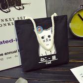 MG 帆布包-韓版女單肩帆布包手提大容量環保簡約學生文藝小清新購物袋子