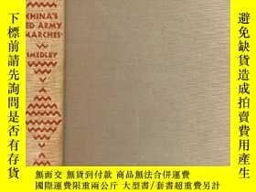 二手書博民逛書店【包罕見】China s Red Army Marches,《中