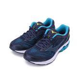 MIZUNO WAVE RIDER 22 慢跑鞋 深藍 J1GC183270 男鞋
