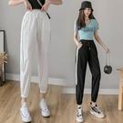 冰絲褲 冰絲休閒褲子女夏季2021新款顯瘦百搭薄款網紗束腳九分工裝運動褲