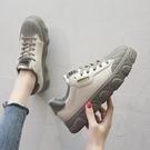 小白鞋女鞋年新款春季帆布學生百搭運動老爹鞋子潮鞋 夢幻衣都