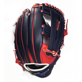 MIZUNO Professional [1ATGH40213] 硬式 棒球 手套 牛皮 井字型 外野 12吋 紅 深藍