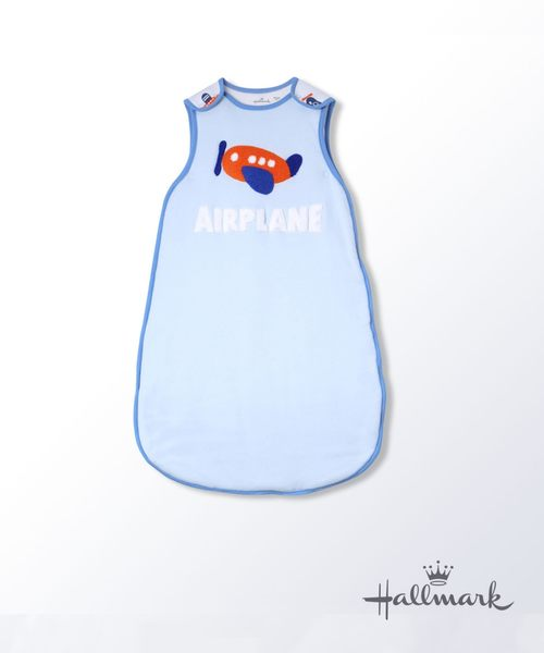 Hallmark Babies飛行夢男嬰純棉加厚背心睡袋防踢被HG3-N01-A2-AB-MB
