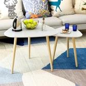 三角桌子簡約墻角臥室床頭桌北歐三角茶幾實木創意邊幾角幾休閒桌