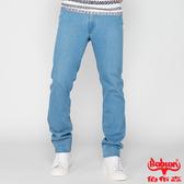 BOBSON 男款高腰膠原蛋白彈性直筒褲(淺藍1791-58)