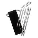 【西華】#316不鏽鋼吸管六件組(含束口袋)