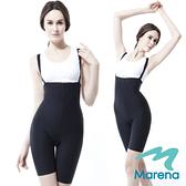 【美國原裝MARENA】全新升級 腹部加強膝上抗菌美體褲(肩帶可拆)
