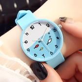 女士手錶防水時尚ins原宿學院風正韓潮流學生兒童卡通手錶可愛 限時85折