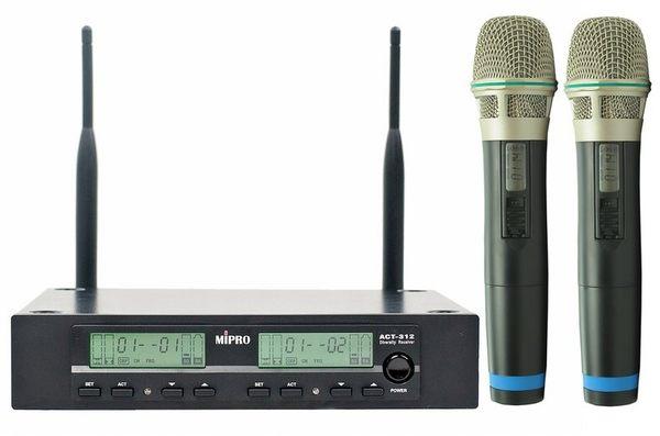 【金聲樂器廣場】全新 MIPRO ACT-312 麥克風無線組/ACT-311 表演/會議/演唱會
