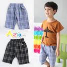 童裝 短褲 格線鈕扣口袋短褲(共2色)...