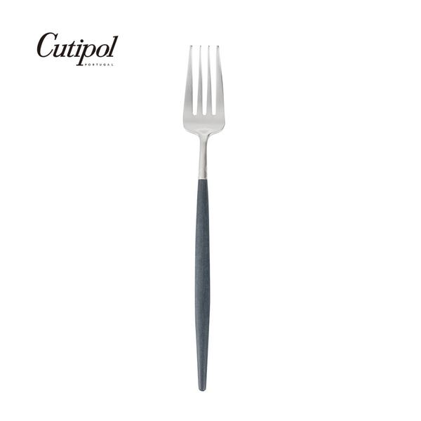 葡萄牙 Cutipol GOA系列21.5cm主餐叉 (藍銀)