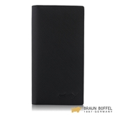【BRAUN BUFFEL】大富翁-Ⅱ系列15卡透明窗長夾 - 黑色 BF356-631-BK