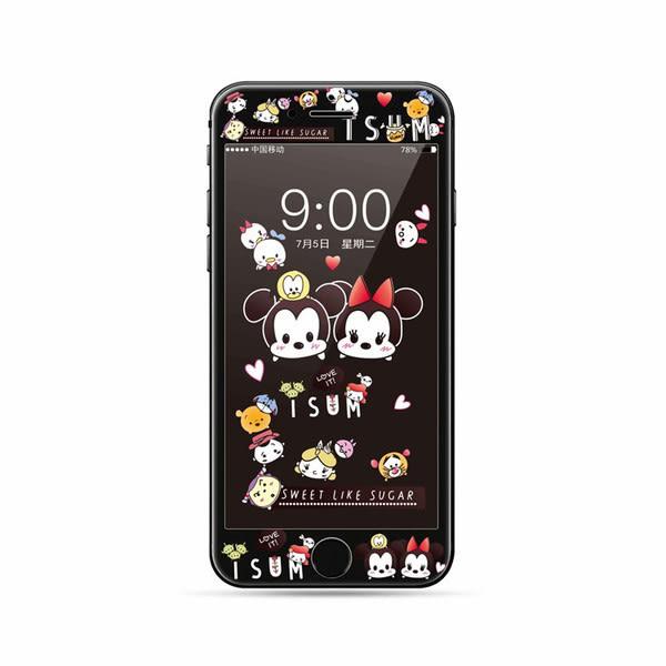 【SZ93】卡通史努比 小飛象 全屏 彩膜 軟邊 iPhone7/8 plus鋼化膜 iPhone7/8鋼化膜 iPhone6/6s鋼化膜