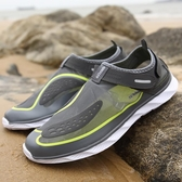 19夏季速干溯溪鞋男網面透氣戶外徒步兩棲涉水鞋女夏天排水沙灘鞋