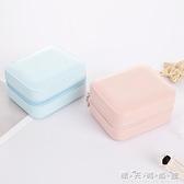 便攜式首飾盒 公主韓國歐式首飾包 小號簡約耳釘耳環飾品收納盒子 晴天時尚