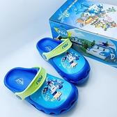 【樂樂童鞋】台灣製波力布希鞋 P058 - 男童鞋 布希鞋 涼鞋 拖鞋 沙灘鞋 兒童拖鞋 室內鞋 POLI