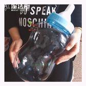 創意家居存錢罐超大號塑料透明奶瓶禮品儲錢罐 魔法街