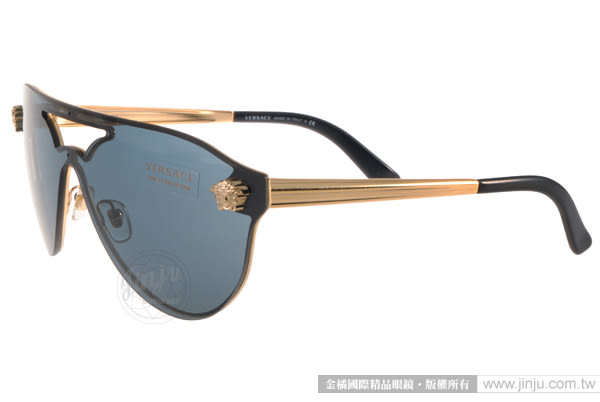 VERSACE 太陽眼鏡 VE2161 100287 (金-藍) 前衛時尚造型款 # 金橘眼鏡