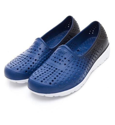PONY 中性款藍黑色洞洞水鞋TROPIC-NO.92U1SA04DB